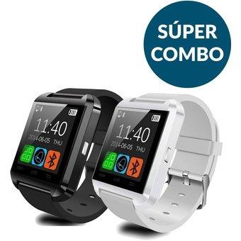 37ecd074a7a Combo Pareja Smartwatch U8 2x1 - Blanco Y Negro - $ 104.860 en Mercado Libre