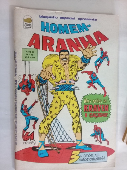 Hq - Homem-aranha N 19 - Editora Bloch - Com Pôster