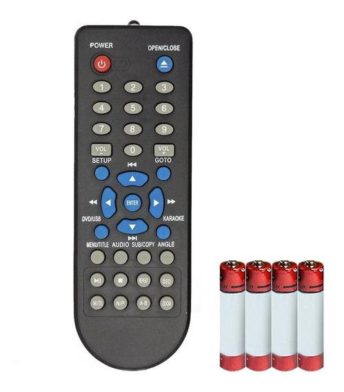Kit Com 2 Pçs Controle Remoto Dvd Inovox Rc-110 + 4 Pilhas