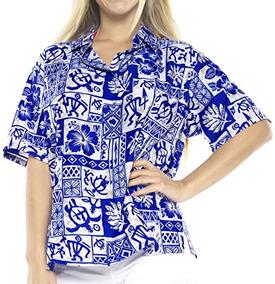 Camiseta La Leela Likre Camp Aloha Beach Top Royal Blue 417