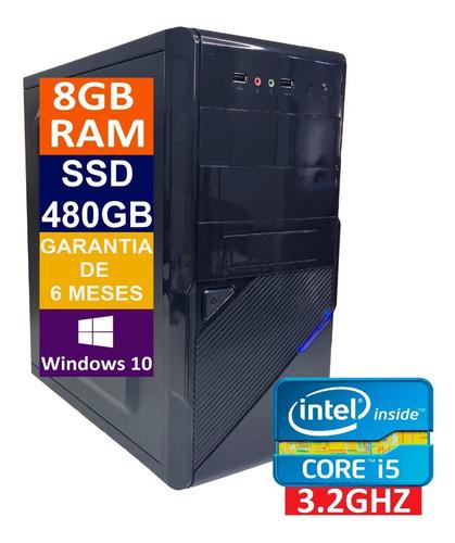 Imagem 1 de 5 de Pc Computador Cpu Intel Core I5 + Ssd 480gb, 8gb Memória Ram