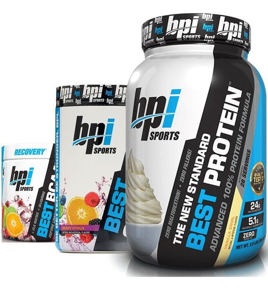 Combo Crossfit Bpi Whey Proteina + Glutamina + Best Bcaa