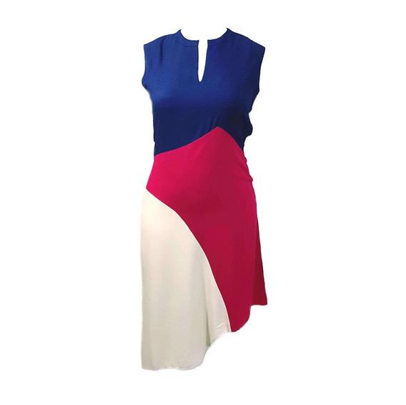 Vestido Social Assimétrico Com Recortes Borda Barroca 50916