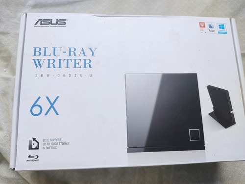 Gravador E Leitor Asus Externo Blu-ray Cd E Dvd Black Sp Usb
