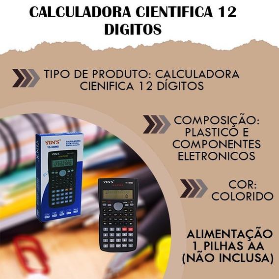 Calculadora Cientifica 12 Digitos Profissional Matematica