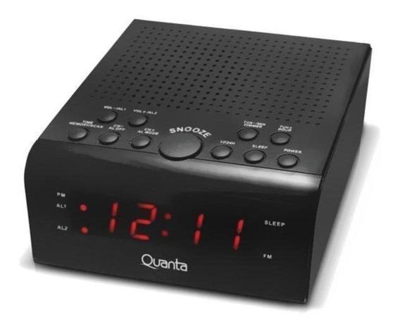 Radio Relógio Digital Am Fm Despertador Quanta 4300 Bivolt
