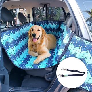 Capa Pet Impermeável Plus Banco E Portas Cães Carro + Guia