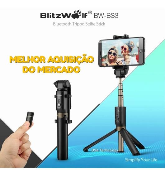 Pau De Selfie Blitzwolf Bluetooth Universal Android/ios Melh