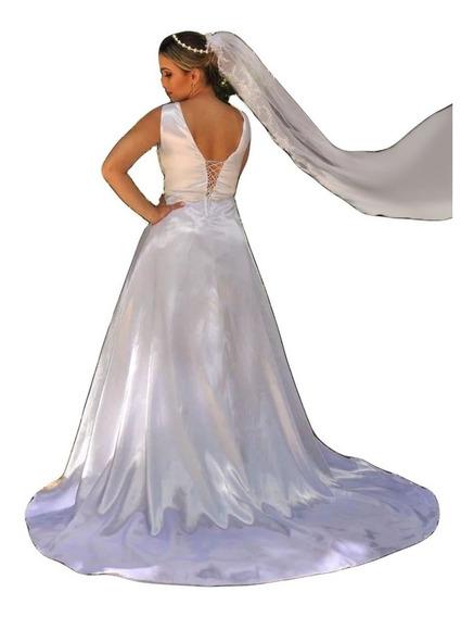 Vestido De Noiva Lindo Elegante Partylight Atelier