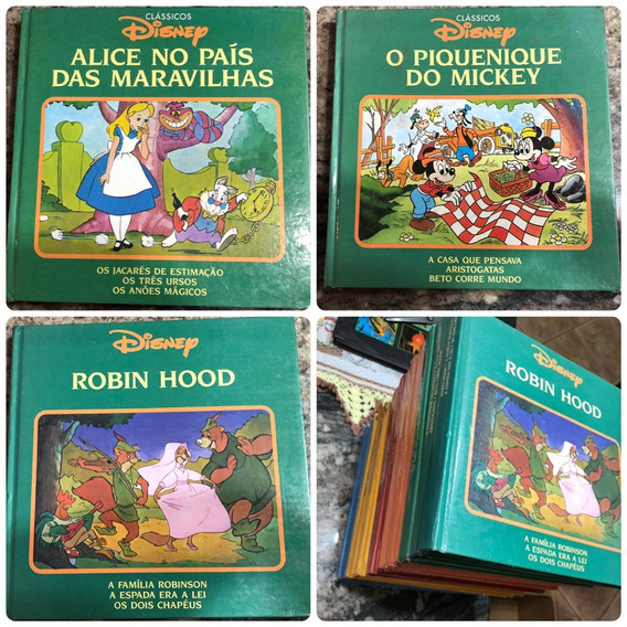 Coleção 15 Livro Classicos Da Disney 1993 Cinderela Bambi