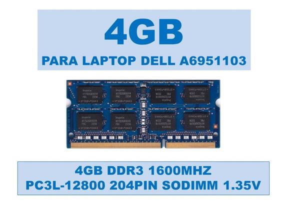 Memoria A6951103 4gb Ddr3 1600mhz Para Portátiles Dell 1.35v