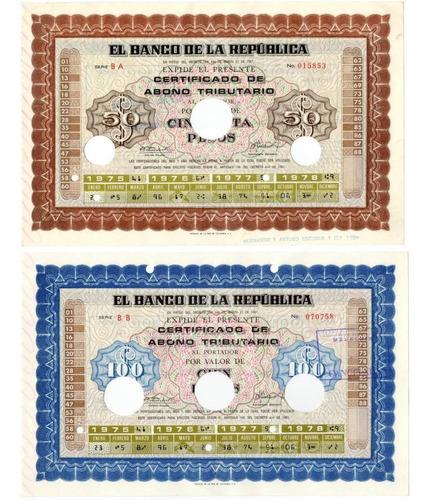 50, 100, 500, 1000, 5000 Y 10000 Pesos 1975-1978
