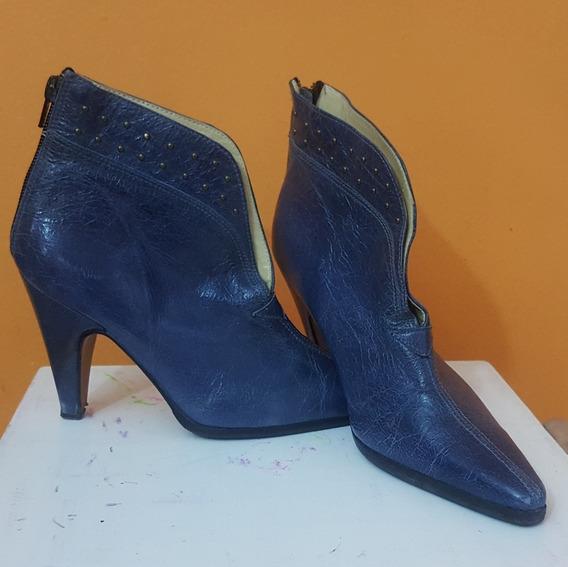 Botas Azules Talle 35 Chiche Lorena Impecables