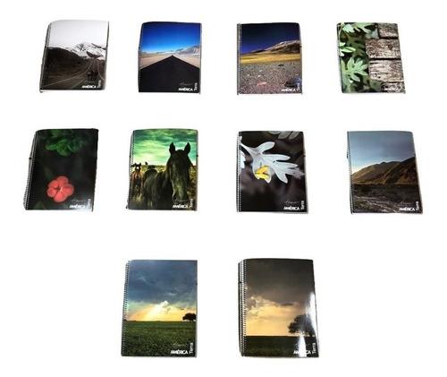 10 Cuadernos Universitarios America X84 Hjs Rayado/cuadricul