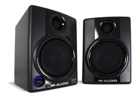 Monitores (par) M-audio Av30 Ativos