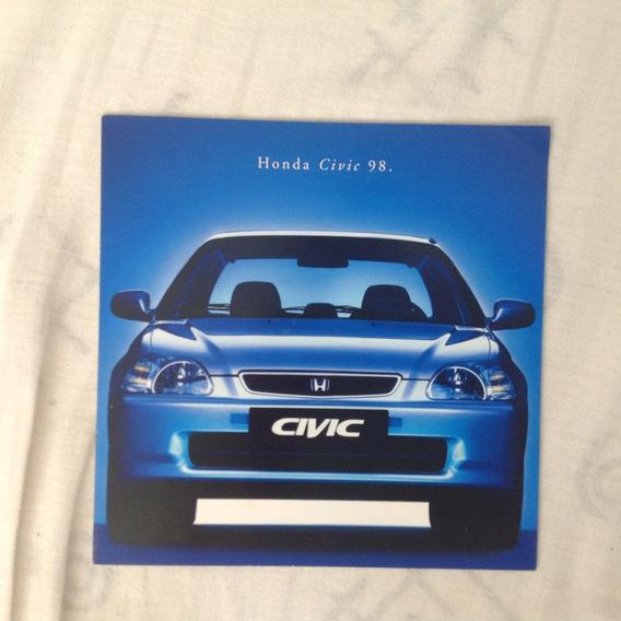 Prospecto Brochura Honda Civic 1998