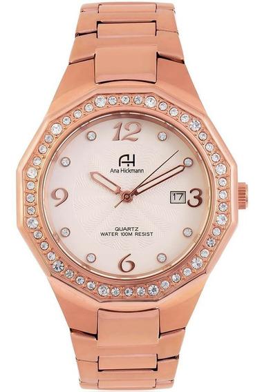 Relógio Feminino Ana Hickmann Ah28188z Rose