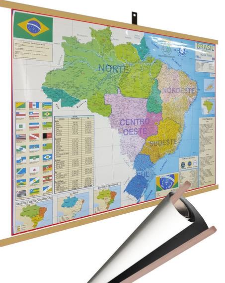 Mapa Brasil Regional Norte Sul.. Regiões Laminado Moldura