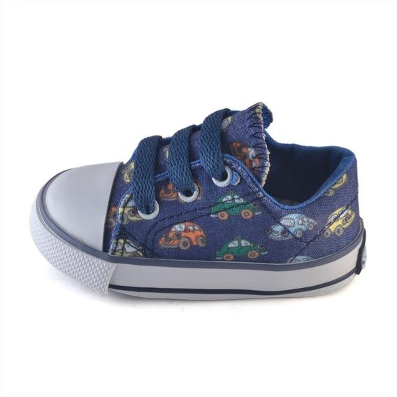 Zapatilla Puntera Bebe Autitos Small Shoes Envío Gratis