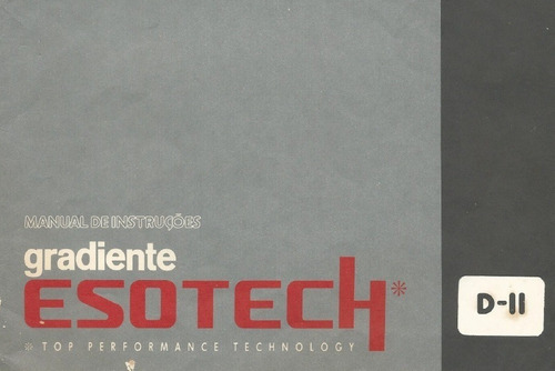 Manual Em Pdf Gradiente Esotech Dii - Tape Deck