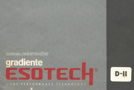 Manual Em Pdf Gradiente Esotech Dii - Tape Deck