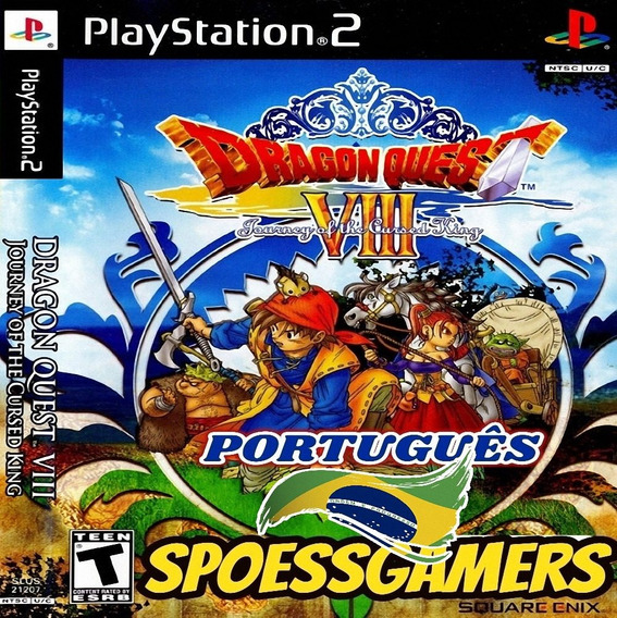 Dragon Quest 8 Ps2 Journey Of The Curse Português Patch Me