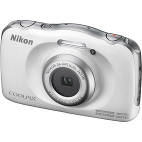 Câmera Nikon Coolpix W100 Á Prova D´água - Branca + Frete