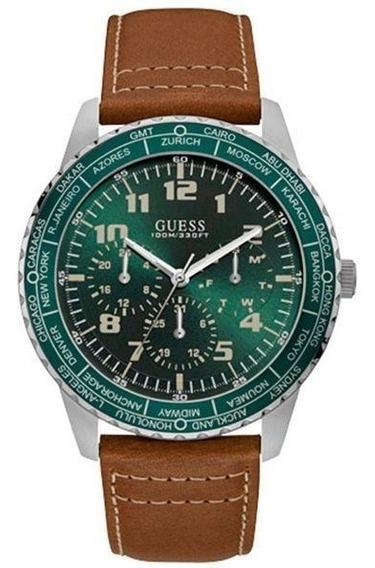 Relógio Guess Masculino Prata/marrom 92729g0gsnc1