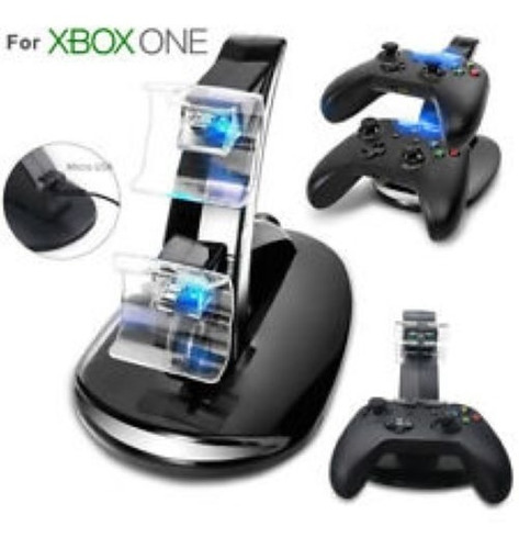 Base Cargadora 2 Joysticks X-box One Leds Titan Argentina