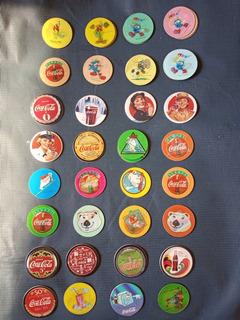 Tazos Coca Cola Variados - Lote Com 45 - Não Elma Chips