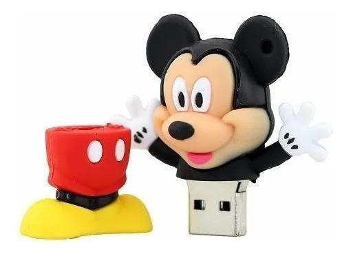 Pendrive Usb 2.0 Emborrachado Mickey 8gb Envio Imediato