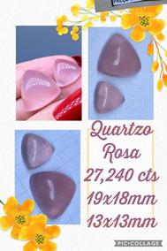 Quartzo Rosa Trilho Naturais 27 240 Cts 19x18 E 13x13 Mm