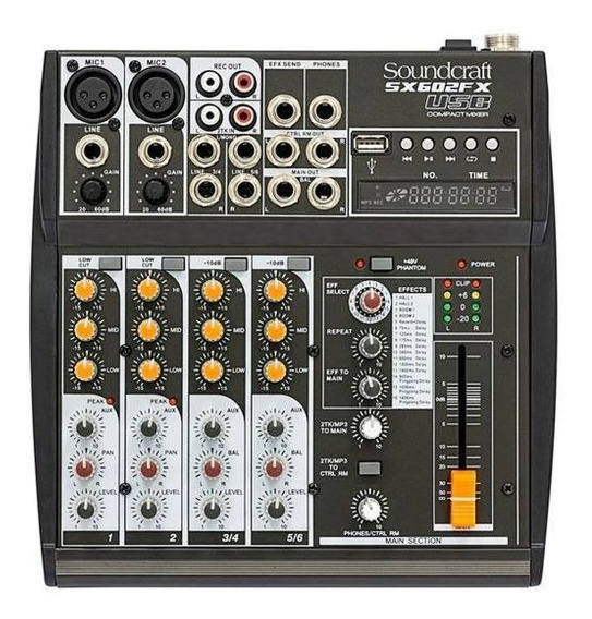 Mesa De Som Soundcraft Sx602fx Sx602 Melhor Q Xenyx 802