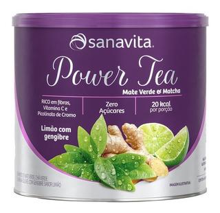 Power Tea Mate Verde & Matchá Contem 200g Sanavita Limão
