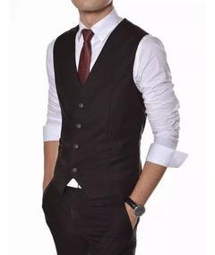 Colete Social Masculino + Camisa + Calça + Gravata