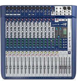 Mesa De Som Soundcraft Signature 16 Nf-e Garantia 1 Ano