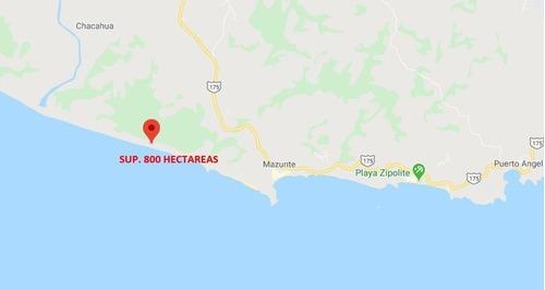 Terreno Pie De Playa Ventanillas, Oaxaca Sup. 800 Hectareas