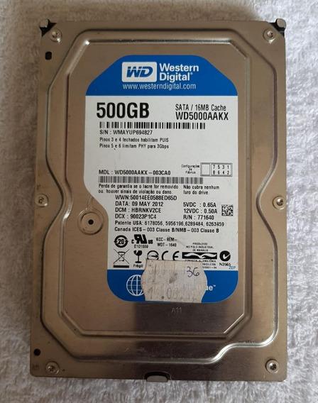 Hd 500gb Sata 16 Mb Caviar Blue Wd5000aakx Western Dig-usado