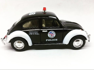 Miniatura Carro Metal Fusca Polícia 1967 Escala 1:32 Coleção