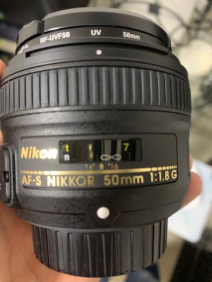 Lente Nikon Af-s Dx Nikon 50mm F/1.8g Dsrl Autofoco F1.8