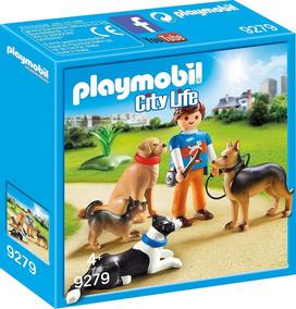 Playmobil 9279 Treinador De 4 Cães De Raça Promo Prod. Europ
