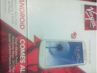 Celular Samsung Galaxy S    Cdma Virgin Mobile Nuevo De Caja