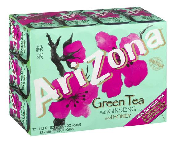 Té Verde Arizona Con Jengibre Y Miel 12 Latas De 340ml