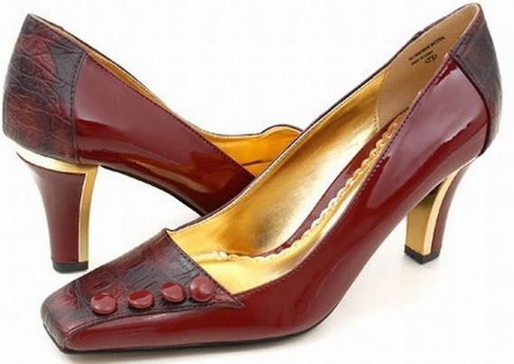 Zapatos Ecocuero Croc Burdeo N°36 Importados Usa
