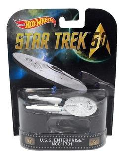 Star Trek 50 Uss Enterprise Ncc-1701 Retro Hot Wheels Mattel