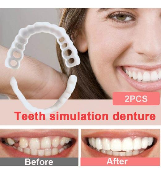 Dientes Sonrisa Perfecta Silme Dental 1par Arriba + Abajo