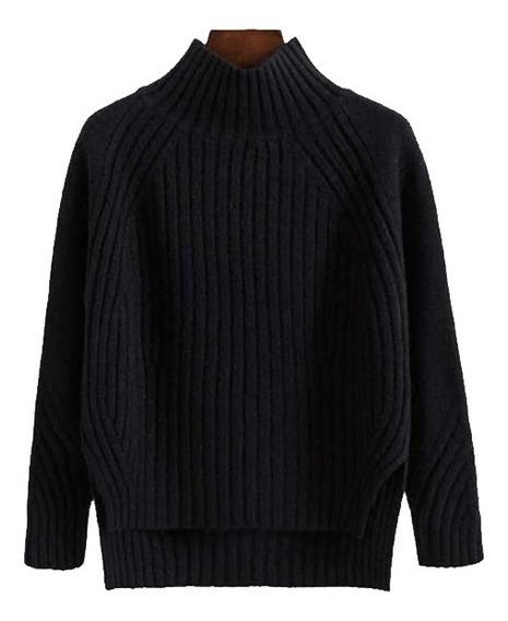 Abrigo Casual Suéter Para Dama Con Cuello Alto R22973