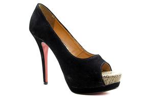 4c5509e4aa Lojas Besni Sapatos Feminino Peep Toe - Sapatos no Mercado Livre Brasil