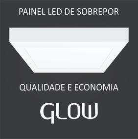 Kit 5 Painel Plafon Led 24w Quadrado Sobrepor Branco Frio