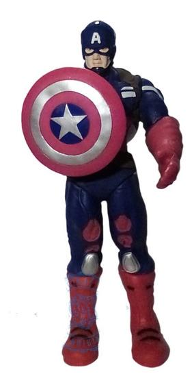Figura Articulada Capitan America 40 Cm Con Escudo - Nuevo!
